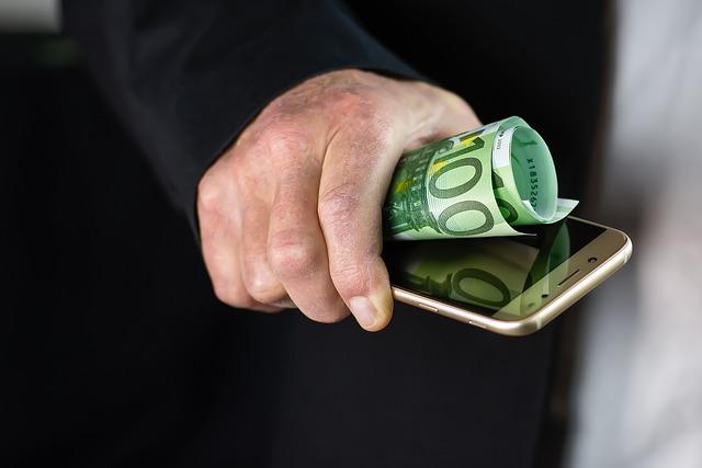 argent téléphone